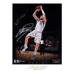 "Dirk Nowitzki Signed Mavericks ""Trademark"" 16x20 Photo LE of 50 (Panini COA)"