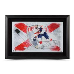 "Aaron Ekblad Signed Panthers 17"" x 25"" Custom Framed Hockey Stick Blade Display (UDA COA)"