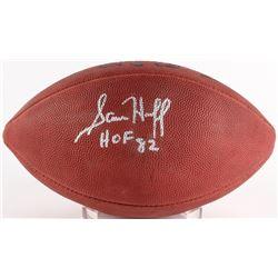"""Sam Huff Signed Official NFL Game Ball Inscribed """"HOF 82"""" (JSA COA)"""
