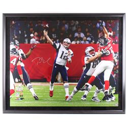 Tom Brady Signed Patriots 46  x 56  Limited Edition Custom Framed Photo Display (Steiner COA  TriSta