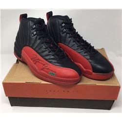 e0608e4ac549 Michael Jordan Signed Original 1997 Nike Air Jordan 12 Flu Basketball Shoes  (UDA COA)