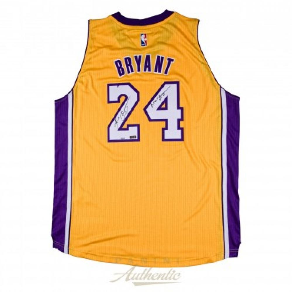 04da0c9c Image 1 : Kobe Bryant Signed LE Lakers Authentic Adidas Jersey Inscribed