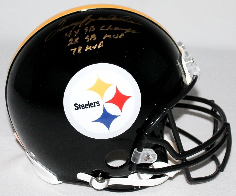 70d82842075 Image 1 : Terry Bradshaw Signed LE Steelers Full-Size Authentic Pro-Line  Helmet
