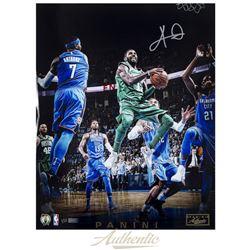 Kyrie Irving Signed LE Celtics  Through The Lane  16x20 Photo (Panini COA)