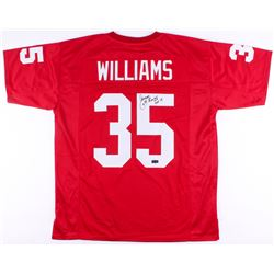 Aeneas Williams Signed Cardinals Jersey Inscribed  HOF 14  (Radtke COA  JSA COA)