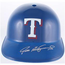 Ivan Rodriguez Signed Rangers Full-Size Replica Batting Helmet (JSA COA)