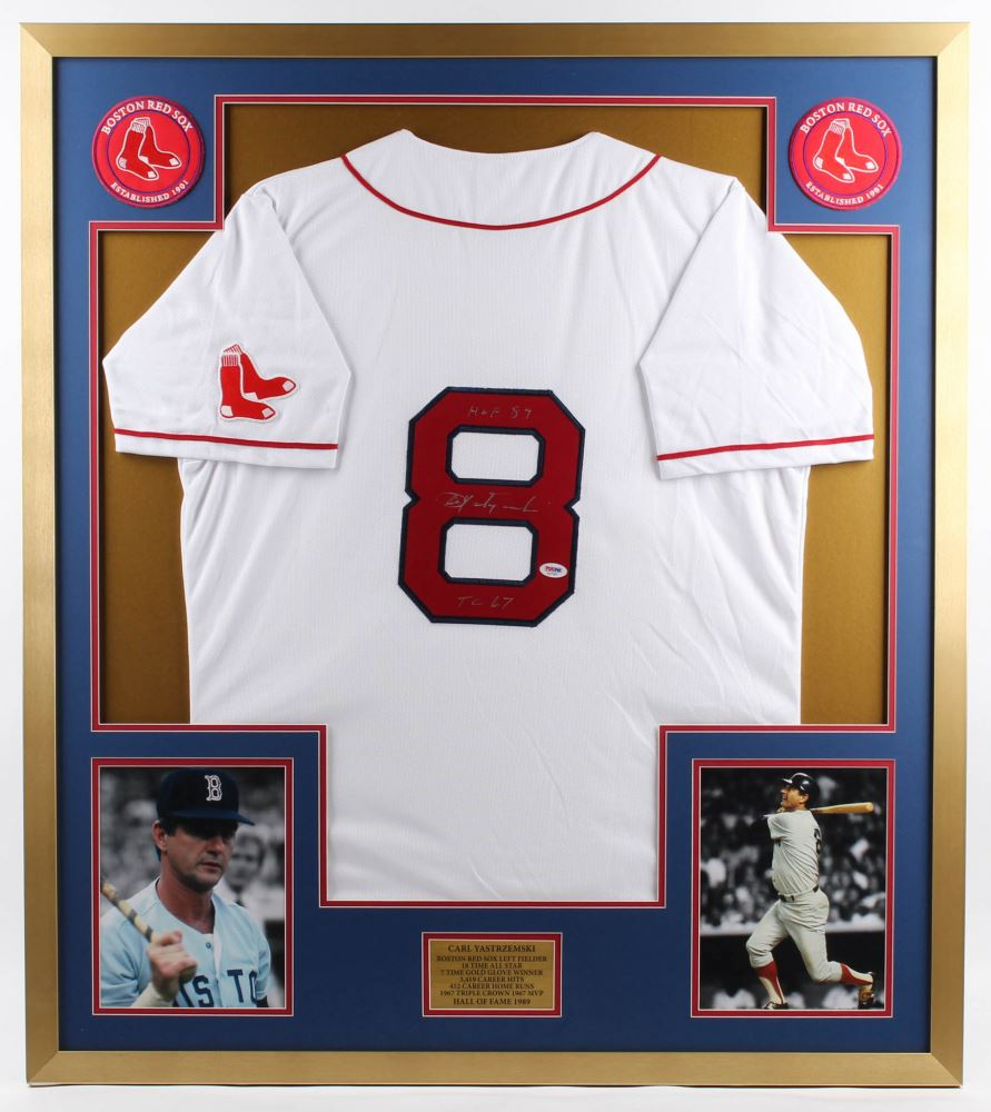 separation shoes a4a3a 293f6 Carl Yastrzemski Signed Red Sox 34x38 Custom Framed ...