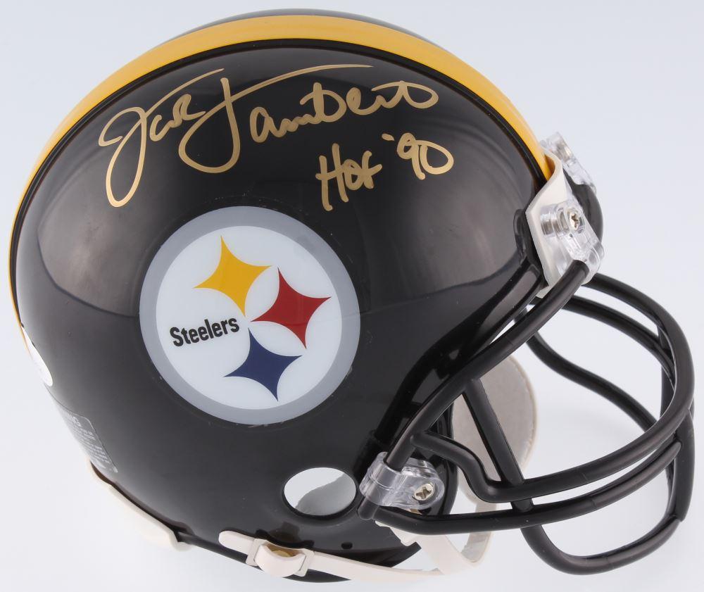 3fab8043616 Loading zoom · Image 1   Jack Lambert Signed Steelers Mini-Helmet Inscribed