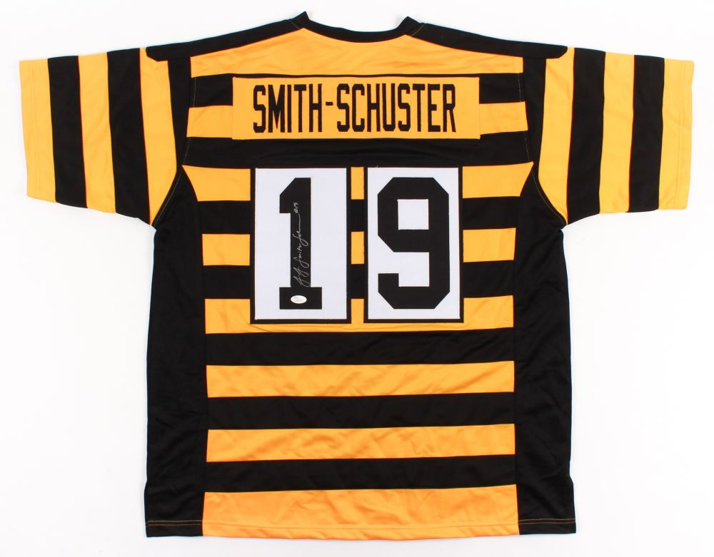 1659195fc Image 1 : JuJu Smith-Schuster Signed Steelers Throwback Jersey (JSA COA)