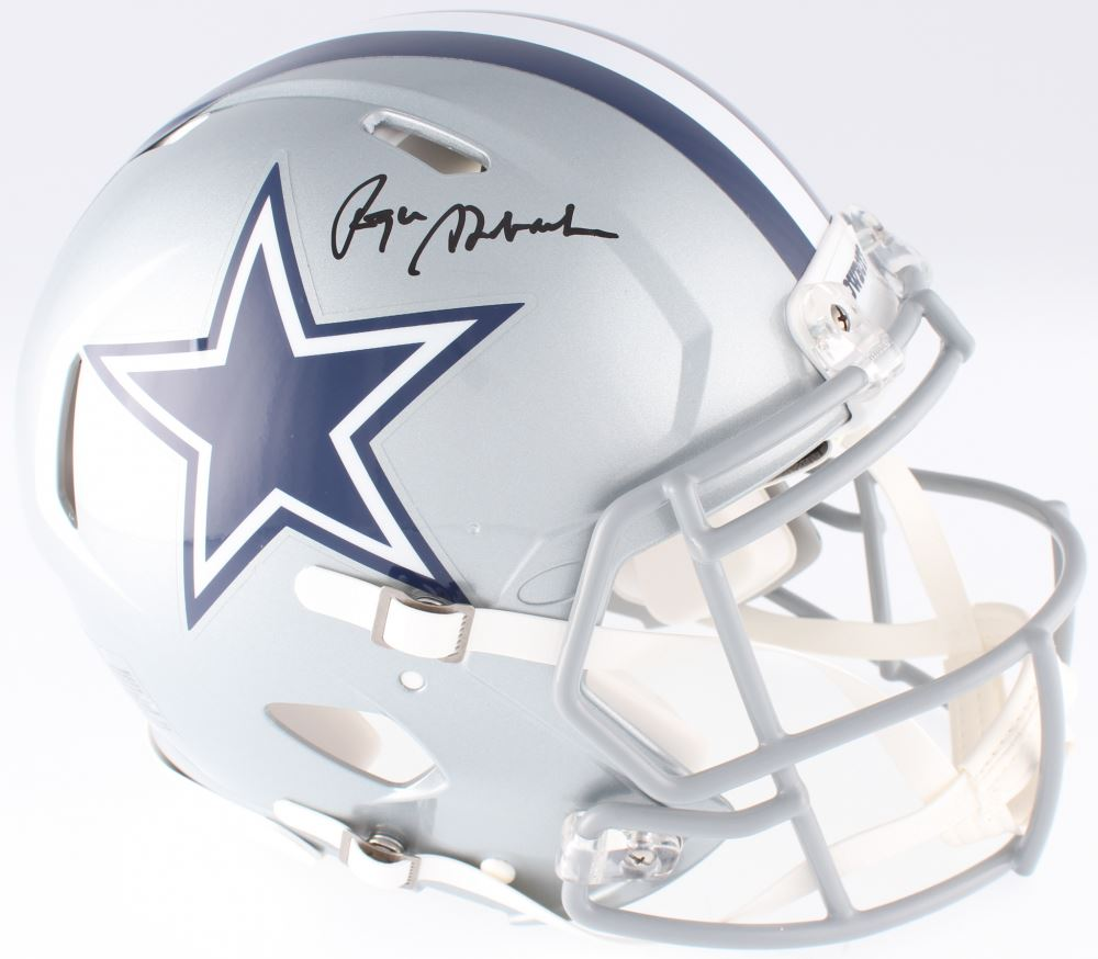 6bb9ccce8c4 Image 1   Roger Staubach Signed Cowboys Full-Size Authentic On-Field Speed  Helmet