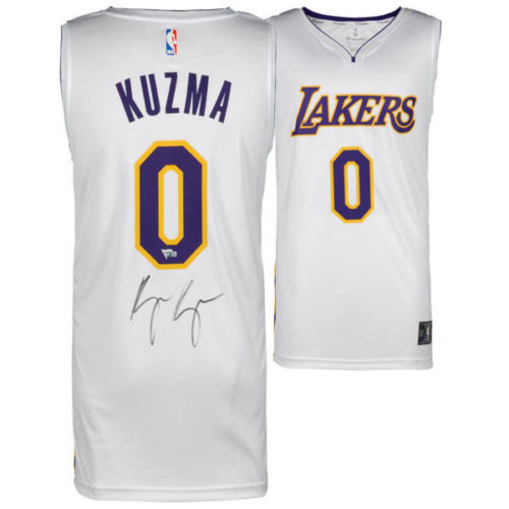 pick up 22c36 dcf96 Kyle Kuzma Signed Lakers Jersey (Fanatics)