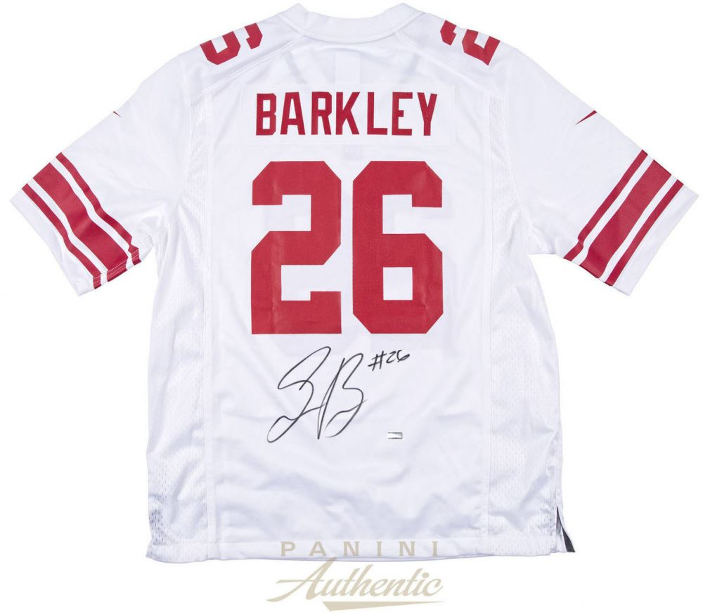 san francisco 3ed40 caffe Saquon Barkley Signed Giants Jersey (Panini COA)