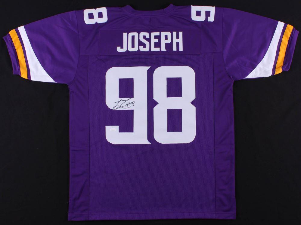 online store 46f58 61f05 Linval Joseph Signed Vikings Jersey (JSA COA)