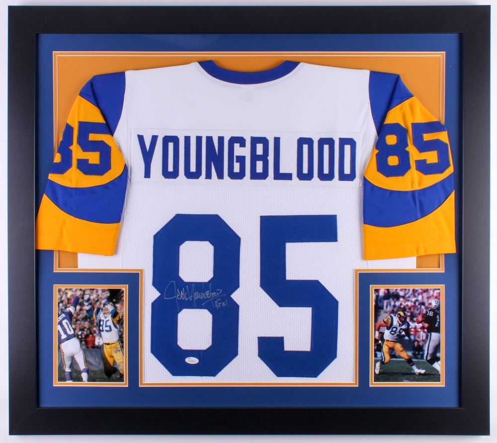 promo code 3ad11 449ac Jack Youngblood Signed Rams 31x35 Custom Framed Jersey ...