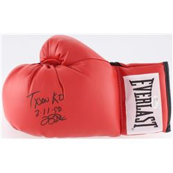 "Buster Douglas Signed Everlast Boxing Glove Inscribed ""Tyson KO 2-11-90"" (JSA COA)"