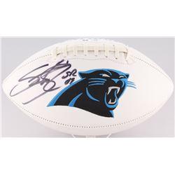 Steve Smith Sr. Signed Panthers Logo Football (Radtke COA)
