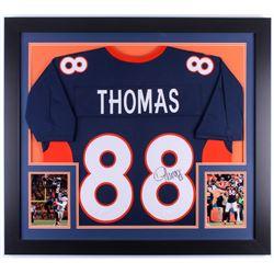 Demaryius Thomas Signed Broncos 31.5x35.5 Custom Framed Jersey (JSA COA)