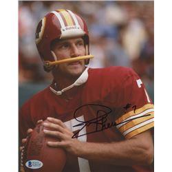 Joe Theismann Signed Redskins 8x10 Photo (Beckett COA)