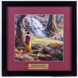 "Thomas Kinkade Walt Disney's ""Snow White and the Seven Dwarves"" 18x18 Custom Framed Print"