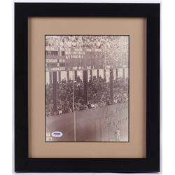 "Andy Pafko Signed 13x15 Custom Framed Photo Inscribed ""Oct 3, 1951"" (PSA COA)"