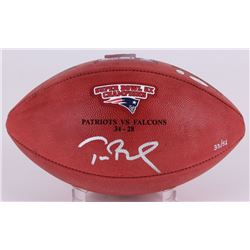 """Tom Brady Signed Super Bowl 51 Limited Edition """"The Duke"""" Patriots Logo NFL Official Game Ball (Stei"""