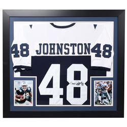 "Daryl ""Moose"" Johnston Signed Cowboys 31.5x35.5 Custom Framed Jersey (JSA Hologram)"