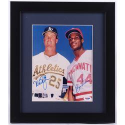 Mark McGwire  Eric Davis Signed 13x15 Custom Framed Photo (PSA LOA)