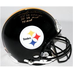 """Terry Bradshaw Signed Steelers Full-Size Authentic On-Field Limited Edition Helmet Inscribed """"4x SB"""