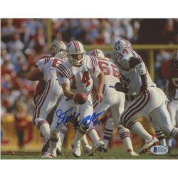 Steve Grogan Signed Patriots 8x10 Photo (Beckett COA)
