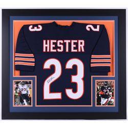 Devin Hester Signed Bears 31.5x35.5 Custom Framed Jersey (JSA COA)
