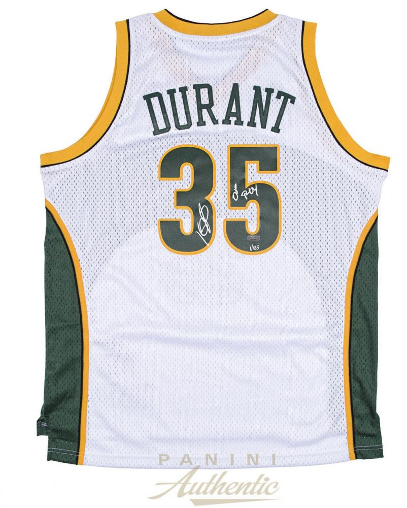 d7e58c450ce9 Image 1   Kevin Durant Signed SuperSonics Limited Edition Adidas Swingman  Jersey Inscribed
