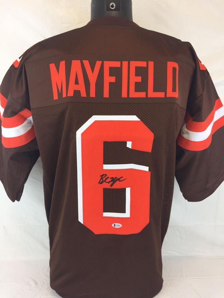 save off 97bc9 6e009 Baker Mayfield Signed Browns Jersey (Beckett COA)