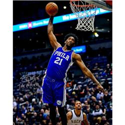 "Joel Embiid Signed 76ers 16x20 Photo Inscribed ""The Process"" (Fanatics)"
