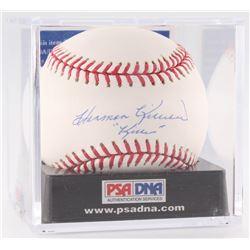 "Harmon Killebrew Signed OML Baseball Inscribed ""Killer"" with Display Case (PSA LOA - Autograph Grade"