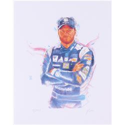Dale Earnhardt Jr. NASCAR 11x14 Limited Edition Fine Art Print by John Yim #/100