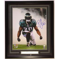 Brian Dawkins Signed Eagles 22x27 Custom Framed Photo Display (JSA COA)