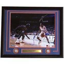 Allen Iverson Signed 76ers 22x27 Custom Framed Photo Display (JSA COA)