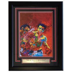 "Leroy Neiman ""The Rumble in the Jungle"" 16x20 Custom Framed Print Display"