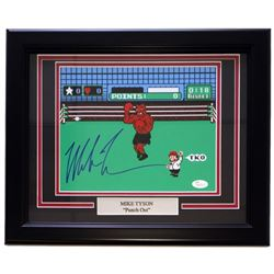 "Mike Tyson Signed ""Punch Out"" 11x14 Custom Framed Photo Display with Engraved Nameplate (JSA COA)"