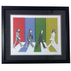 """The Beatles"" Word Art 22x27 Custom Framed Print Display"