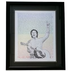 "Paul McCartney ""Word Art"" 22x27 Custom Framed Print Display"
