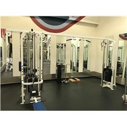 LIFE FITNESS WHITE / BLUE MULTI - STATION CABLE PULL SYSTEM