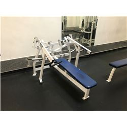 HAMMER STRENGTH WHITE / BLUE 150-LAT HORIZONTAL BENCH PRESS