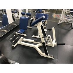 WHITE / BLUE INDUSTRIAL FREE WEIGHT CURL BENCH