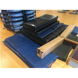 LARGE QUANTITY OF ASSORTED GYM FLOOR MATS
