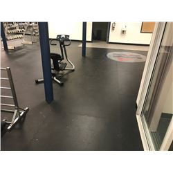 ALL RUBBER INTERLOCKING GYM FLOORING IN LOWER EXERCISE ROOM