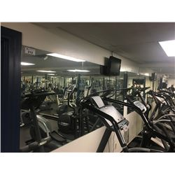 ALL WALL MIRRORS IN LOWER WORKOUT ROOM