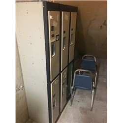 CONTENTS OF STORAGE ROOM : LOCKERS, FILE CABINETS & CHAIRS