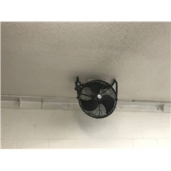 PAIR OF BLACK INDUSTRIAL FANS
