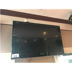 "SHARP 42"" LCD TELEVISION WITH WALL MOUNT"